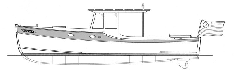 Semi vee bottom sailboat plans